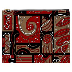 Red and brown abstraction Cosmetic Bag (XXXL)