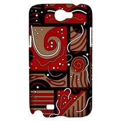 Red and brown abstraction Samsung Galaxy Note 2 Hardshell Case