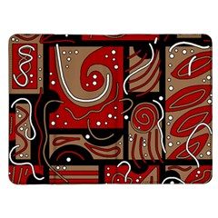 Red and brown abstraction Kindle Fire (1st Gen) Flip Case
