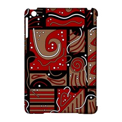 Red and brown abstraction Apple iPad Mini Hardshell Case (Compatible with Smart Cover)