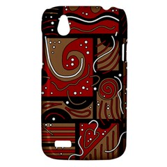 Red and brown abstraction HTC Desire V (T328W) Hardshell Case