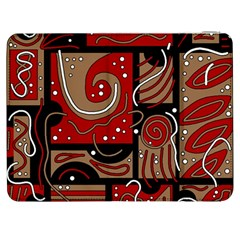 Red and brown abstraction Samsung Galaxy Tab 7  P1000 Flip Case
