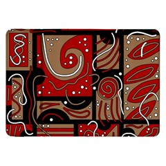 Red and brown abstraction Samsung Galaxy Tab 8.9  P7300 Flip Case