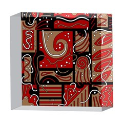 Red and brown abstraction 5  x 5  Acrylic Photo Blocks