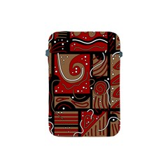 Red and brown abstraction Apple iPad Mini Protective Soft Cases