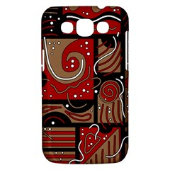 Red and brown abstraction Samsung Galaxy Win I8550 Hardshell Case
