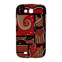 Red and brown abstraction Samsung Galaxy Grand GT-I9128 Hardshell Case