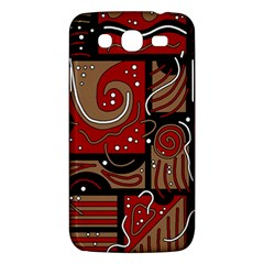 Red and brown abstraction Samsung Galaxy Mega 5.8 I9152 Hardshell Case