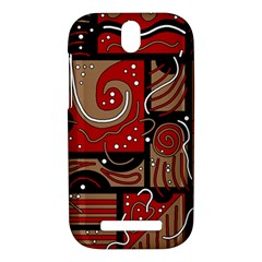 Red and brown abstraction HTC One SV Hardshell Case