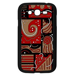 Red and brown abstraction Samsung Galaxy Grand DUOS I9082 Case (Black)