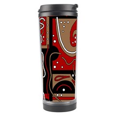 Red and brown abstraction Travel Tumbler