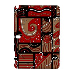 Red and brown abstraction Samsung Galaxy Note 10.1 (P600) Hardshell Case