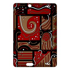 Red and brown abstraction Amazon Kindle Fire HD (2013) Hardshell Case