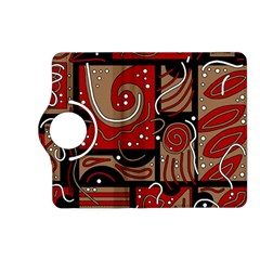 Red and brown abstraction Kindle Fire HD (2013) Flip 360 Case