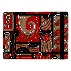 Red and brown abstraction Samsung Galaxy Tab Pro 12.2  Flip Case
