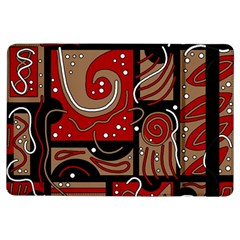 Red and brown abstraction iPad Air Flip