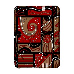 Red and brown abstraction Amazon Kindle Fire (2012) Hardshell Case