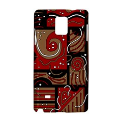 Red and brown abstraction Samsung Galaxy Note 4 Hardshell Case