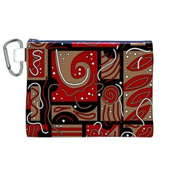 Red and brown abstraction Canvas Cosmetic Bag (XL)