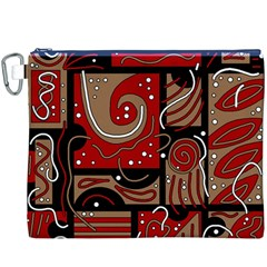 Red and brown abstraction Canvas Cosmetic Bag (XXXL)