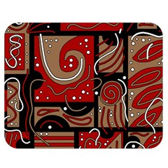 Red and brown abstraction Double Sided Flano Blanket (Medium)