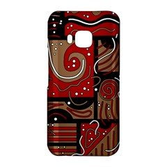 Red and brown abstraction HTC One M9 Hardshell Case
