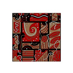 Red and brown abstraction Satin Bandana Scarf