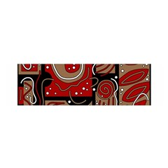 Red and brown abstraction Satin Scarf (Oblong)
