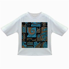 Blue and brown abstraction Infant/Toddler T-Shirts