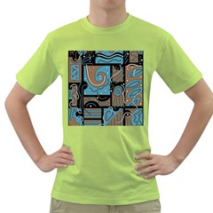 Blue and brown abstraction Green T-Shirt