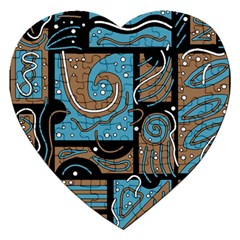 Blue and brown abstraction Jigsaw Puzzle (Heart)