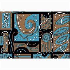 Blue And Brown Abstraction Collage Prints