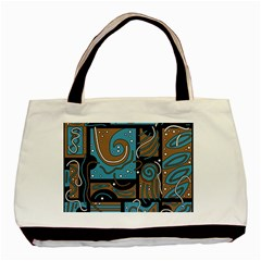 Blue and brown abstraction Basic Tote Bag (Two Sides)