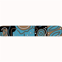 Blue and brown abstraction Small Bar Mats