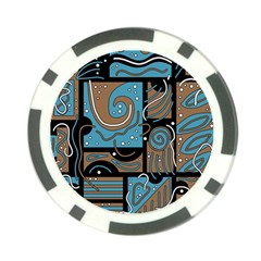Blue and brown abstraction Poker Chip Card Guards