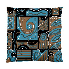 Blue and brown abstraction Standard Cushion Case (One Side)