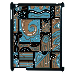 Blue and brown abstraction Apple iPad 2 Case (Black)