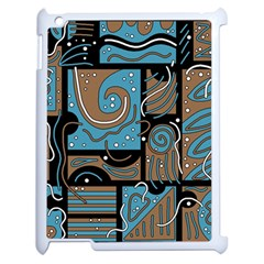 Blue and brown abstraction Apple iPad 2 Case (White)