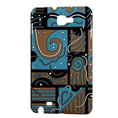 Blue and brown abstraction Samsung Galaxy Note 1 Hardshell Case
