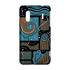 Blue and brown abstraction HTC Evo Design 4G/ Hero S Hardshell Case