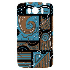 Blue and brown abstraction HTC Sensation XL Hardshell Case