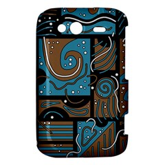 Blue and brown abstraction HTC Wildfire S A510e Hardshell Case