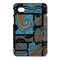 Blue and brown abstraction Samsung Galaxy Tab 7  P1000 Hardshell Case