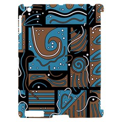 Blue and brown abstraction Apple iPad 2 Hardshell Case (Compatible with Smart Cover)