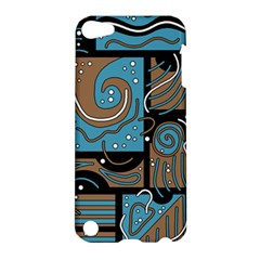 Blue and brown abstraction Apple iPod Touch 5 Hardshell Case