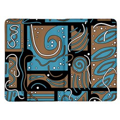 Blue and brown abstraction Kindle Fire (1st Gen) Flip Case