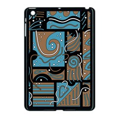 Blue and brown abstraction Apple iPad Mini Case (Black)