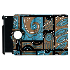Blue and brown abstraction Apple iPad 3/4 Flip 360 Case