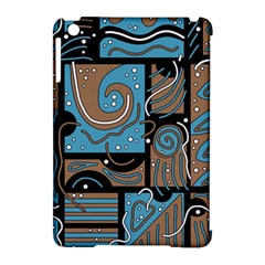 Blue and brown abstraction Apple iPad Mini Hardshell Case (Compatible with Smart Cover)