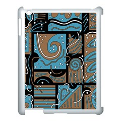 Blue and brown abstraction Apple iPad 3/4 Case (White)